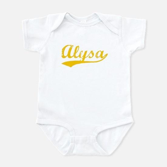 Vintage Alysa (Orange) Infant Bodysuit
