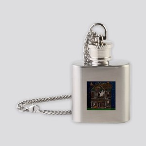 Harvest Moons Haunted House Flask Necklace