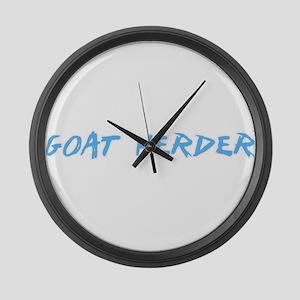Goat Herder Profession Design Large Wall Clock