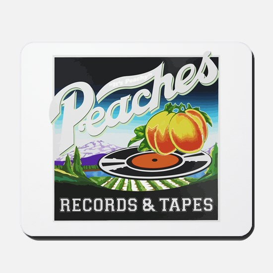 Peaches Records and Tapes logo Mousepad