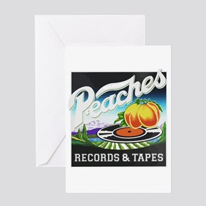Peaches Records and Tapes logo Greeting Cards