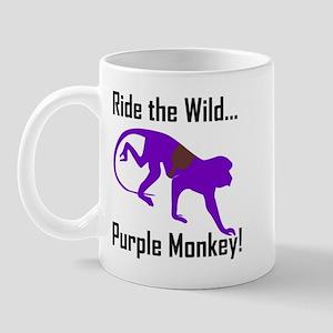 Ride the Wild Purple Monkey Mug