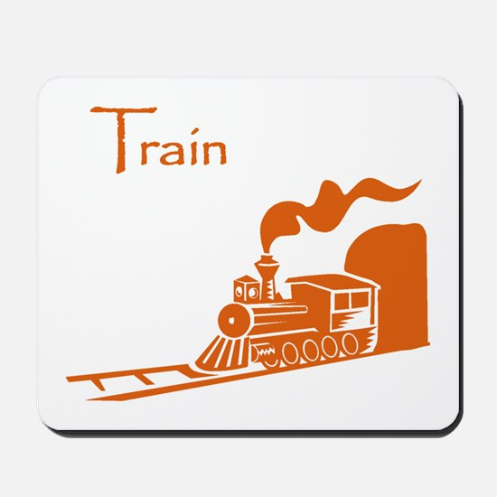 The Orange Train Mousepad