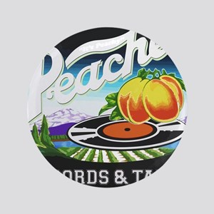 Peaches Records and Tapes logo Button