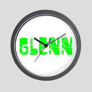 Glenn Faded (Green) Wall Clock
