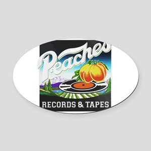 Peaches Records and Tapes logo Oval Car Magnet