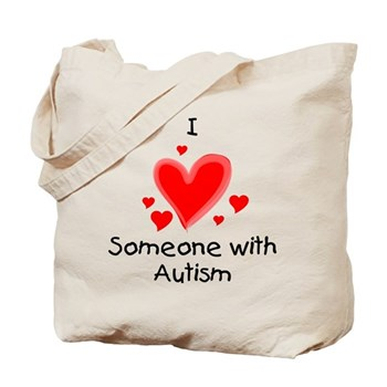 I Heart Someone With Autism Tote Bag