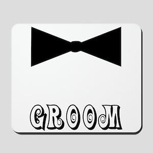 Black Tie GROOM Mousepad