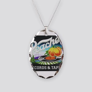 Peaches Records and Tapes logo Necklace Oval Charm
