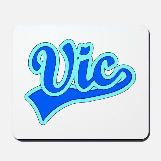 Retro Vic (Blue) Mousepad