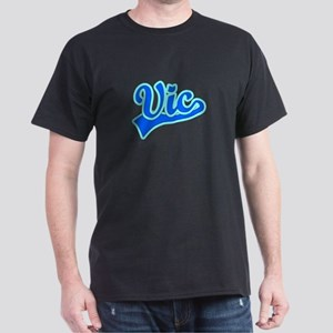 Retro Vic (Blue) Dark T-Shirt