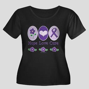 Purple Ribbon Alzheimer's Plus Size T-Shirt