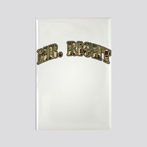 Camo Mr. Right Rectangle Magnet