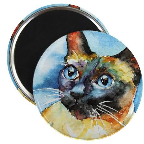 Blue Siamese Cat Magnet