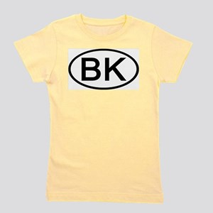 BK - Initial Oval Ash Grey T-Shirt