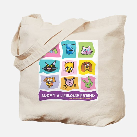 Adopt A Lifelong Friend Tote Bag