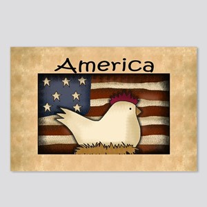 Country Chicken Postcards (Package of 8)