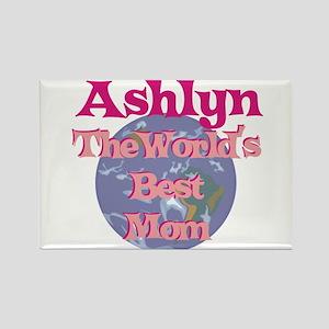 Ashlyn - World's Best Mom Rectangle Magnet