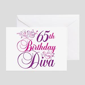 65th Birthday Diva Greeting Cards (Pk of 20)