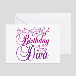 Birthday Diva Greeting Cards (Pk of 20)