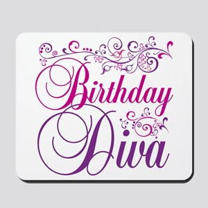Birthday Diva Mousepad
