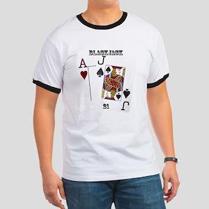 Blackjack Cards Ringer T