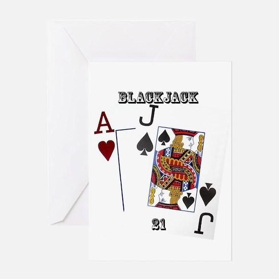 Blackjack Cards Greeting Card
