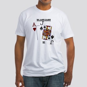 Blackjack Cards Fitted T-Shirt