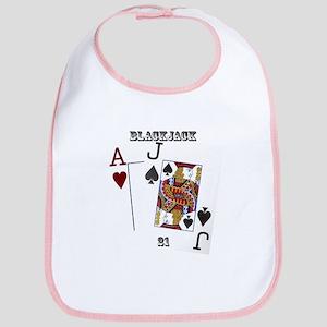 Blackjack Cards Bib