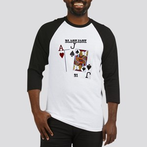 Blackjack Cards Baseball Jersey