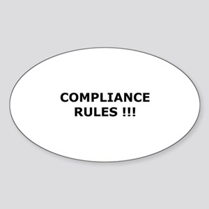 Compliance Rules Oval Sticker