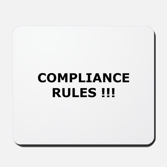 Compliance Rules Mousepad