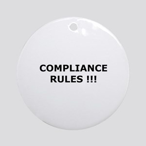 Compliance Rules Ornament (Round)