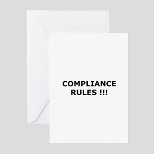 Compliance Rules Greeting Cards (Pk of 10)