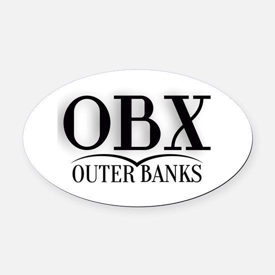 Outer Banks Oval Car Magnet