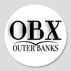 Outer Banks Round Car Magnet