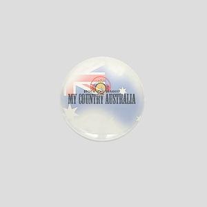 My Country Australia Mini Button