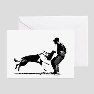GSD Schutzhund Greeting Card