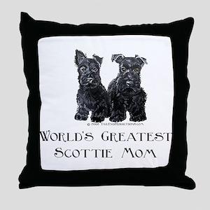 Scottish Terrier Puppies Best Throw Pillow