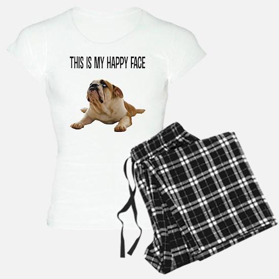 Happy Face Bulldog Pajamas