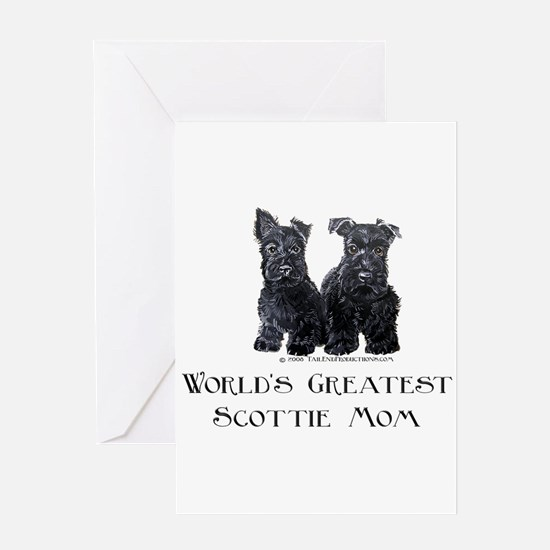 Scottish Terrier Puppies Best Greeting Card