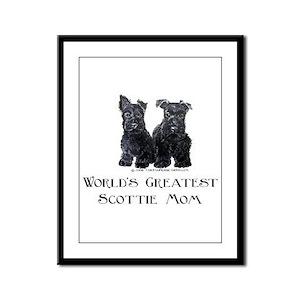 Scottish Terrier Puppies Best Framed Panel Print