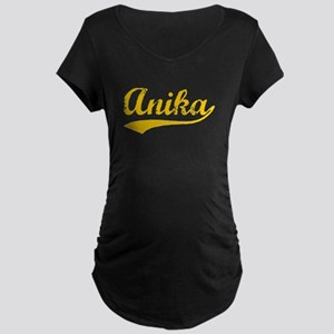 Vintage Anika (Orange) Maternity Dark T-Shirt