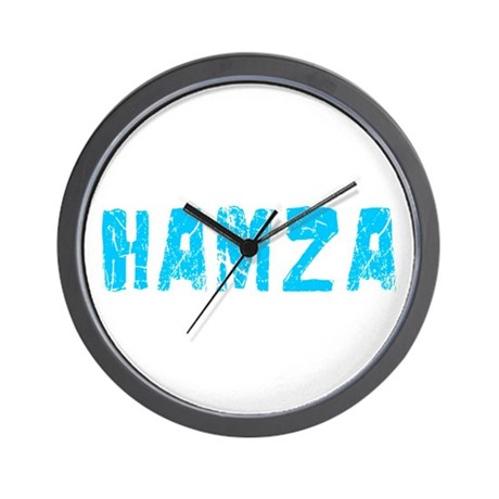 Hamza Faded (Blue) Wall Clock