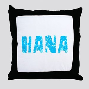 Hana Faded (Blue) Throw Pillow