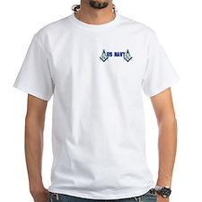 Masonic US NAVY White T-Shirt