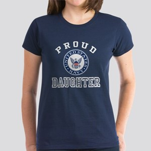 Proud US Navy Daughter Women's Dark T-Shirt