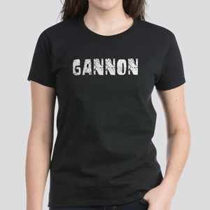 Gannon Faded (Silver) Women's Dark T-Shirt