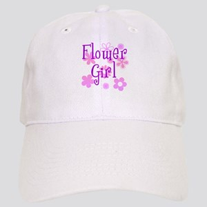 Pink and Purple Flower Girl Cap