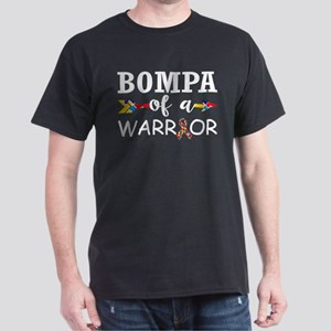 Bompa Of A Warrior Autism Awareness T-Shirt